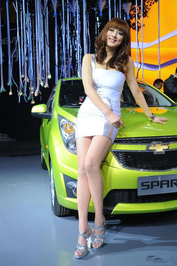 北京车展雪佛兰展台车模